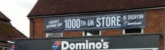 Domino's pizza in Overton marks their 1000th store