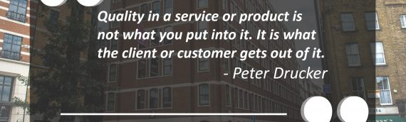 Great quote from Peter Drucker about quality