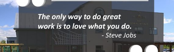 Inspirational quote from Steve Jobs –
